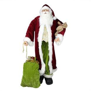 standing life size decorative christmas santa claus figure - Stuffed Santa Claus