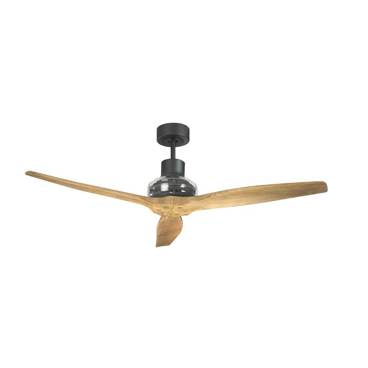 Starfans 52 3 Blade Propeller Ceiling Fan With Wall Control And Light Kit Included Reviews Perigold
