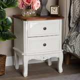 Packer Darlene Wood 2 Drawer Nightstand by Charlton Home®