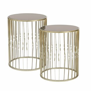 Farah Decorative Round 2 Piece Nesting Tables Mercer41