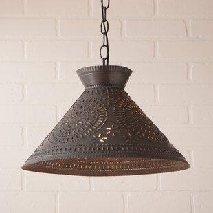 Gracie Oaks Wentworth Chisel 1-Light Cone Pendant