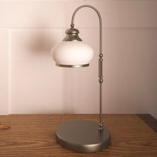 Hegland 40cm Arched Table Lamp by Three Posts