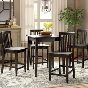 Haslingden 5 Piece Pub Dining Set by Three Posts