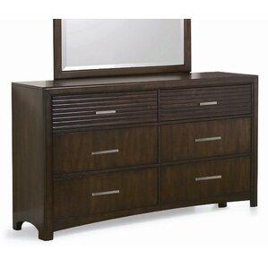 Edison 6 Drawer Dresser by New Spec Inc