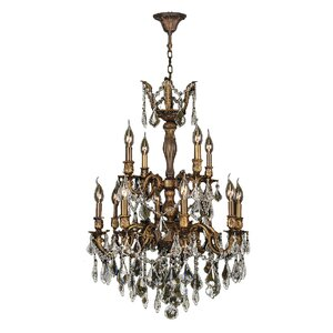 Dodson Traditional 12-Light Chain Crystal Chandelier