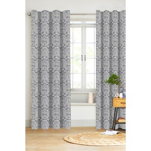 100% Cotton Damask Curtains & Drapes You'll Love in 2021 | Wayfair