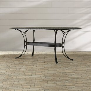 Six Oval Outdoor Dining Table