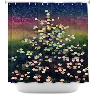 Elio Christmas Tree Single Shower Curtain