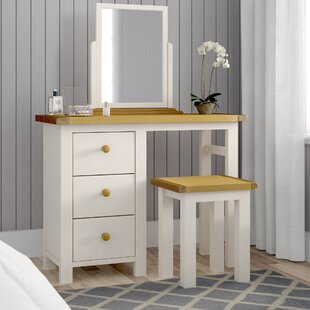 Faucher Dressing Table Set With Mirror By Brambly Cottage