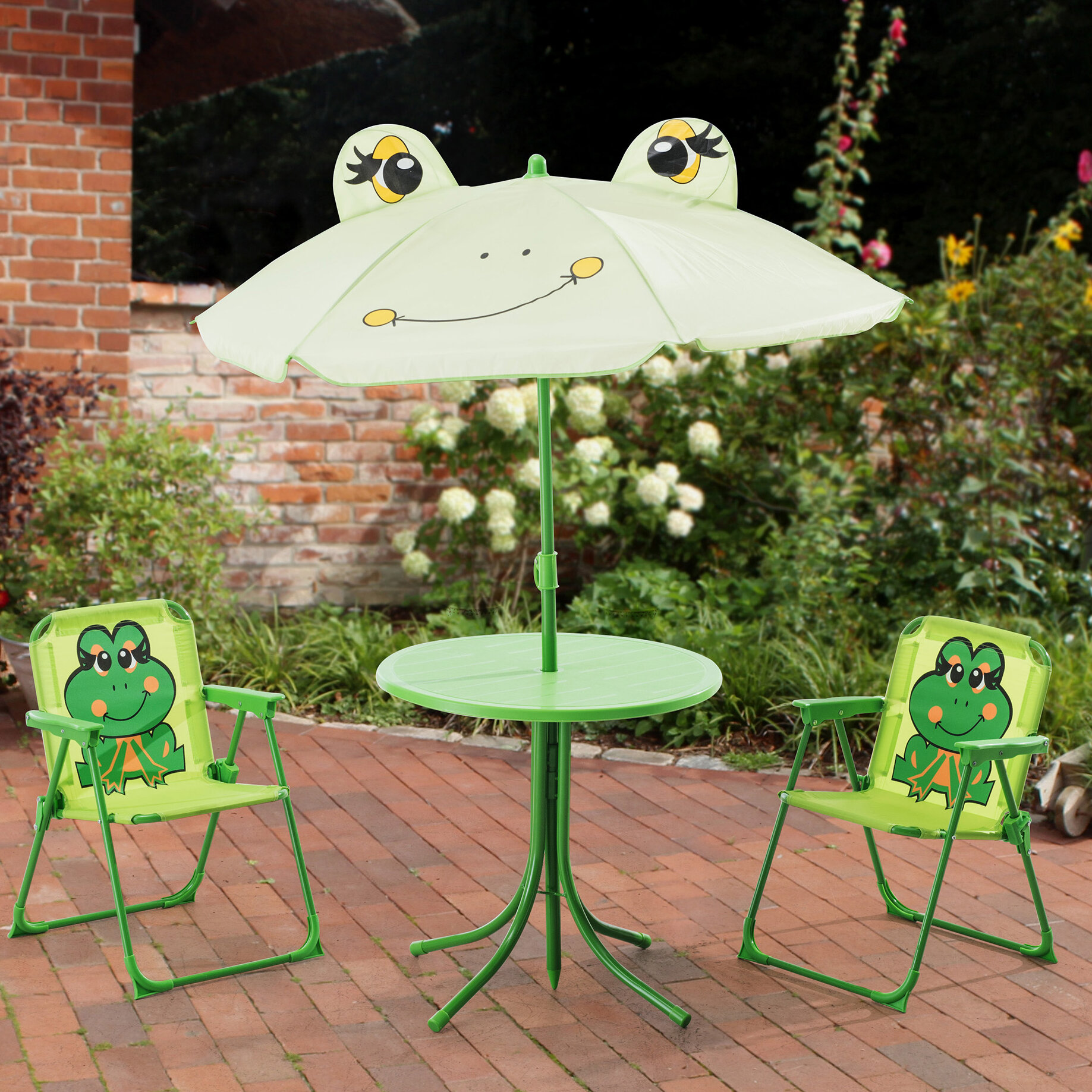 Zoomie Kids Myah Frog Kids 4 Piece Table and Chair Set & Reviews