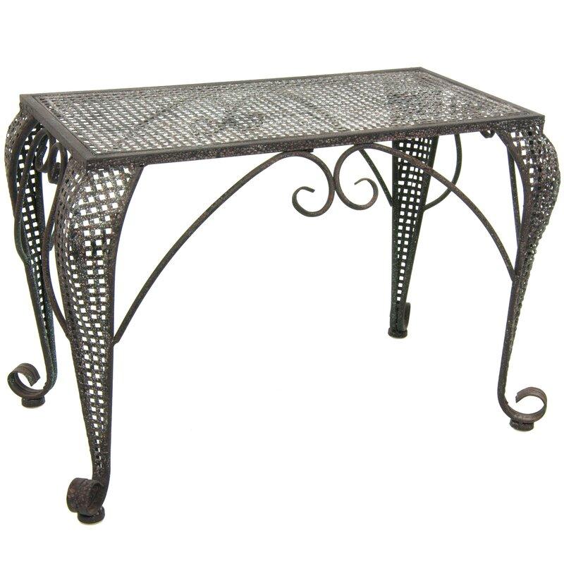 Wrought Iron Garden Table Part - 40: Wrought Iron Garden Table