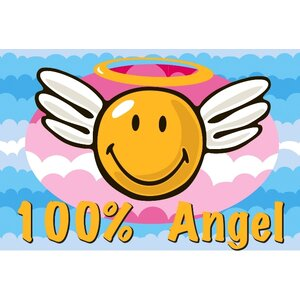 Smiley World Smiley Angel Area Rug
