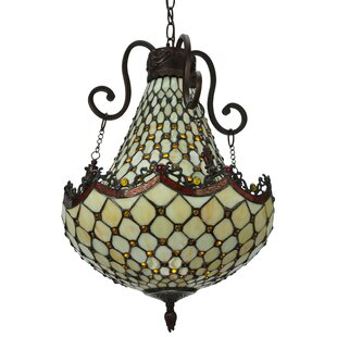 Meyda Tiffany Diamond and Jewel 5-Light Empire Chandelier