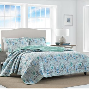 Laura Ashley Home Fish Friends at Bay 100% Cotton Reversible Quilt Set by Laura Ashley Home