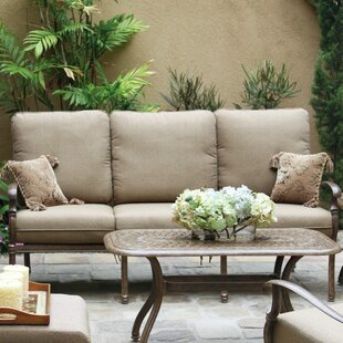 Astoria Grand Trisara Patio Sofa with Cushion