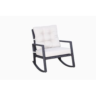 Alcott Hill Hilbert Rocking Chair with Cushions