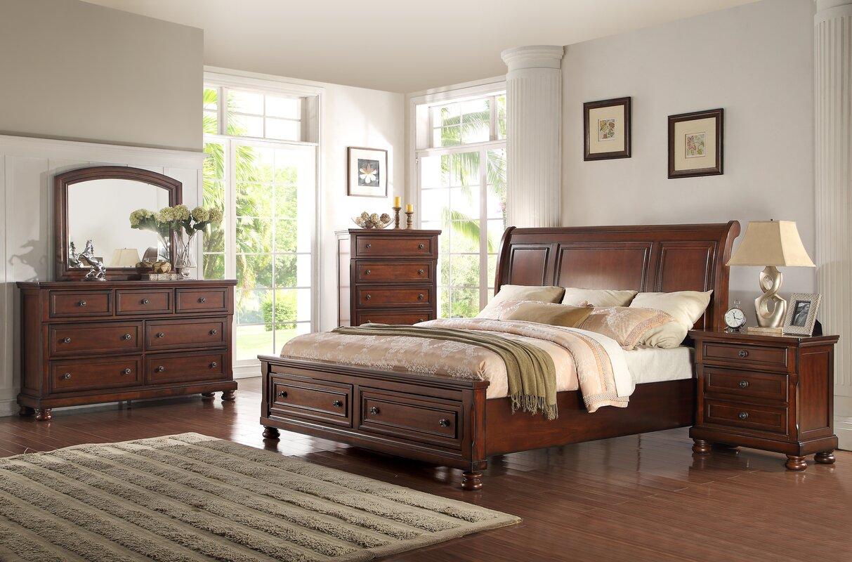 Ultimate Accents American Heritage Queen Panel 5 Piece Bedroom Set ...