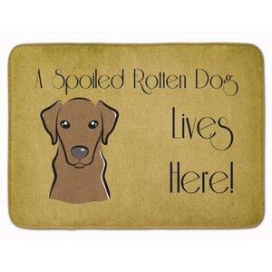 Corington Labrador Spoiled Dog Lives Here Memory Foam Bath Rug