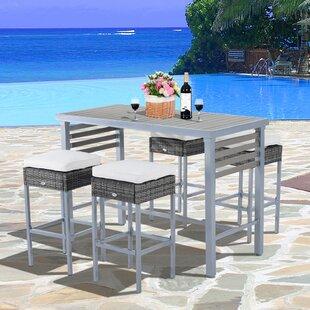 Rosa 5 Piece Patio Bar Height Dining Set ..