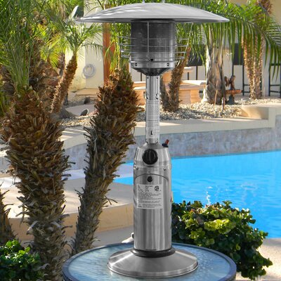 AZ Patio Heaters 11,000 BTU Propane Tabletop Patio Heater Finish: Stainless Steel