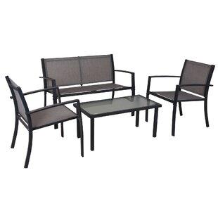 Qunitero 4 Seater Conversation Set By Sol 72 Outdoor