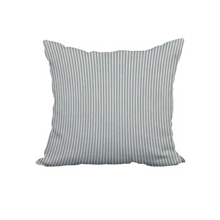 Anwen Ticking Stripe Print Throw Pillow
