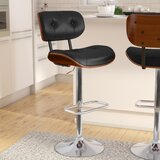 Catina Swivel Adjustable Height Bar Stool by Wade Logan®