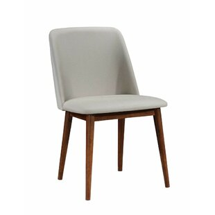 Dozier Wooden Upholstered Dining Chair (S..