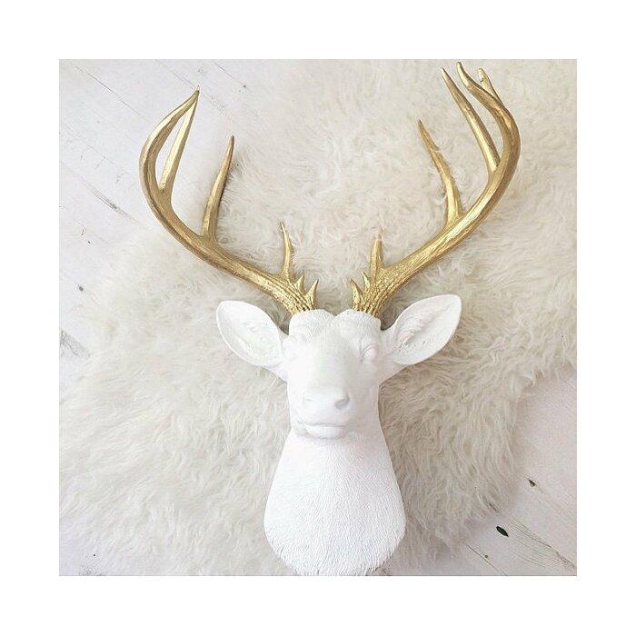 Large Deer Head Faux Taxidermy Wall Decor