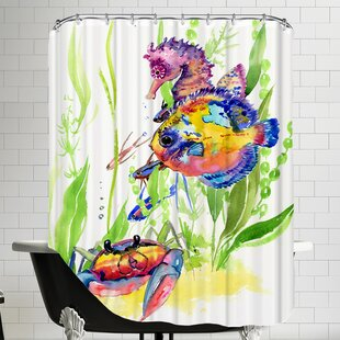 Big Save Seaworld Shower Curtain ByEast Urban Home
