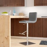 Fionn Swivel Counter Adjustable Height Bar Stool by Orren Ellis