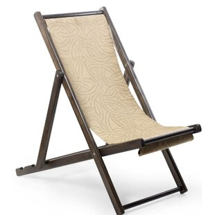 Lovelady Forest Whisper Wood and Canvas Folding Club Chair