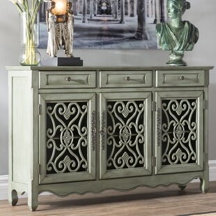 Helvic 3 Drawer 3 Door Accent Cabinet by Astoria Grand