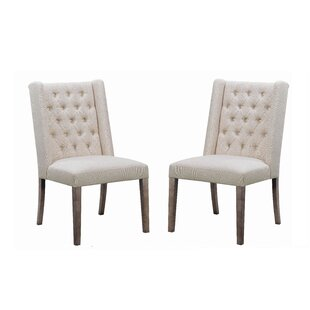 Tufted Upholstered Side Chair In Beige (Set Of 2) By Coaster