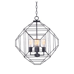 Buy clear 4-Light Geometric Chandelier By Wrought Studio