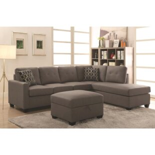 Red Barrel Studio Koumarianos Reversible Sectional With Ottoman