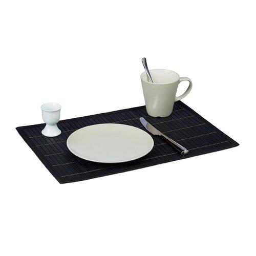 Platzset | Heimtextilien > Tischdecken und Co > Platz-Sets | Schwarz | Bambus | Relaxdays