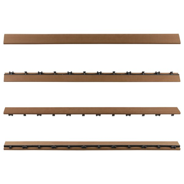 "NewTechWood 36"" x 2"" Composite Interlocking Deck Side Trim ..."
