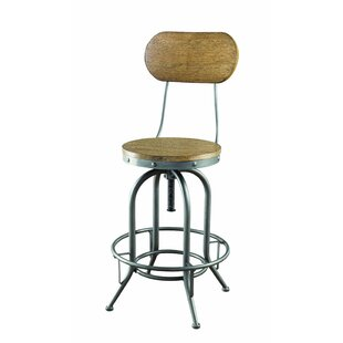 Elam Adjustable Height Bar Stool Set of 2 by 17 Stories