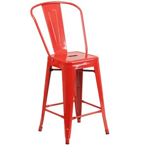 Dovercliff 24.25  Bar Stool  sc 1 st  AllModern : red bar stool chairs - islam-shia.org