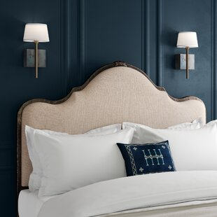 Saltville Linen Stone Upholstered Panel Headboard by Greyleigh