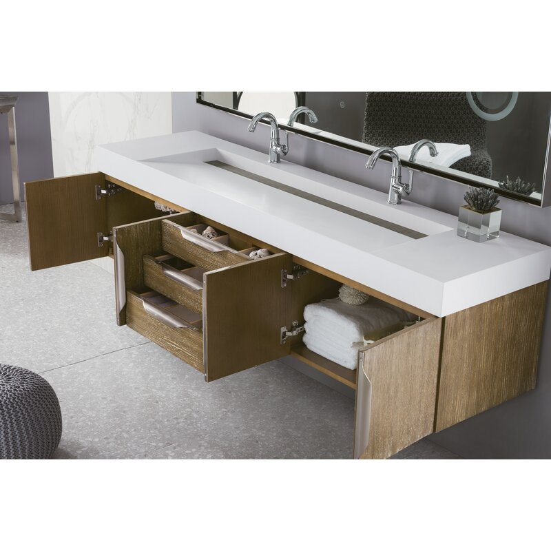 Wall Mounted Double Bathroom Vanity Set