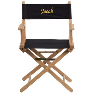 Flash Furniture Embroidered Folding Director Chair