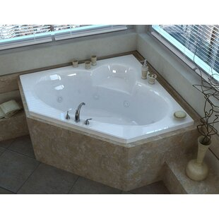 Curacao 58 X Corner Whirlpool Jetted Bathtub With Center Drain