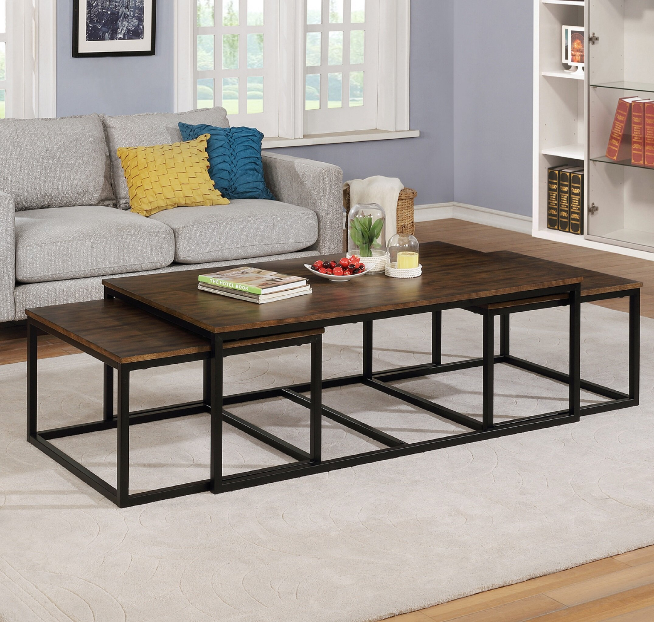 - Gracie Oaks Hensley 3 Piece Coffee Table And Nesting Tables Set