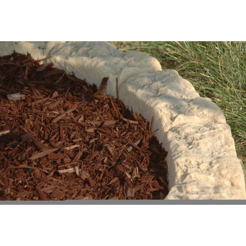 Dekorra Products 4 In H X 10 In W Artificial Stone Block Edging
