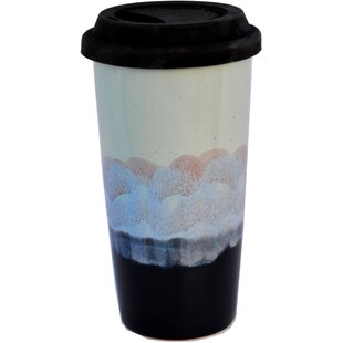 Junya Mountain Waves Glaze 15 oz. Double Walled Tall Travel Mug