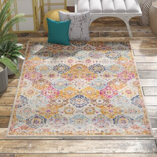 Hillsby Blue/Orange Area Rug By Mistana