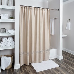 Compare prices Londonshire Cotton Shower Curtain ByDarby Home Co