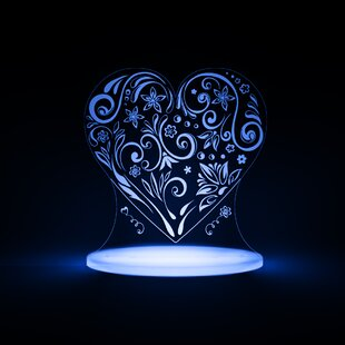 Reviews Heart LED Night Light By Total Dreamz